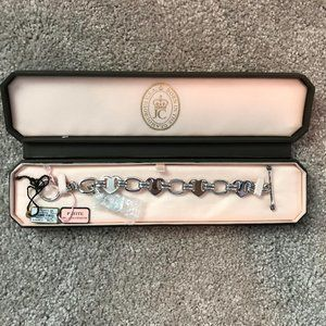 JUICY COUTURE ~ Silver Heart Link Bracelet!  NWT!